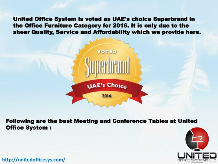 United Office System is voted as UAE's choice ‪