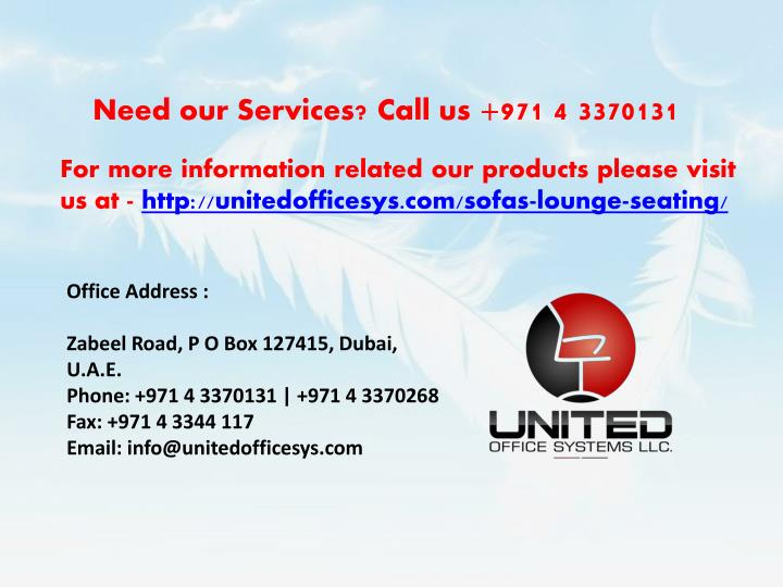 Need our Services? Call us