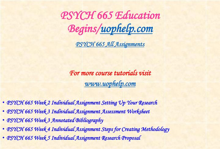 Psych 665 education begins uophelp com1