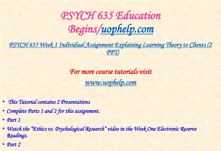 Psych 635 education begins uophelp com1