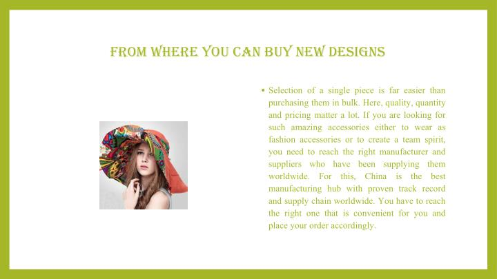 From Where You Can Buy New Designs