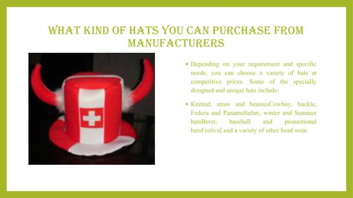 What Kind of Hats You Can Purchase from