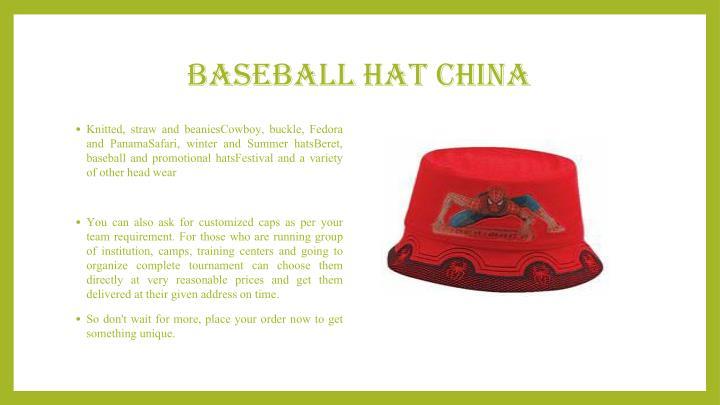 baseball hat china