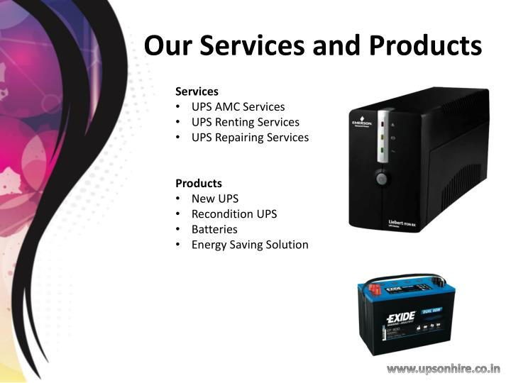Our services and products