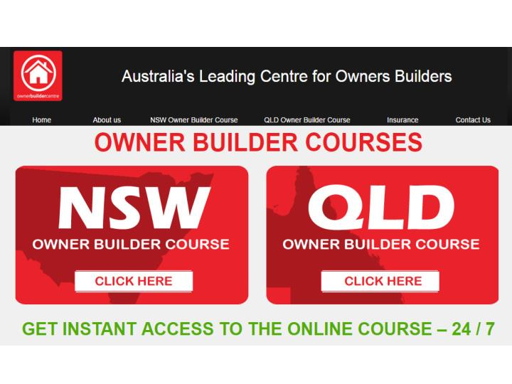 Owner builder qld helps you to complete your home construction project safely