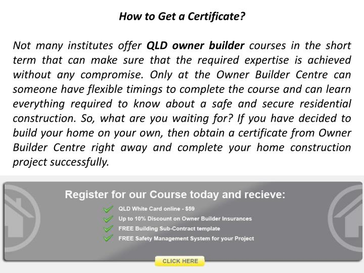 How to Get a Certificate?