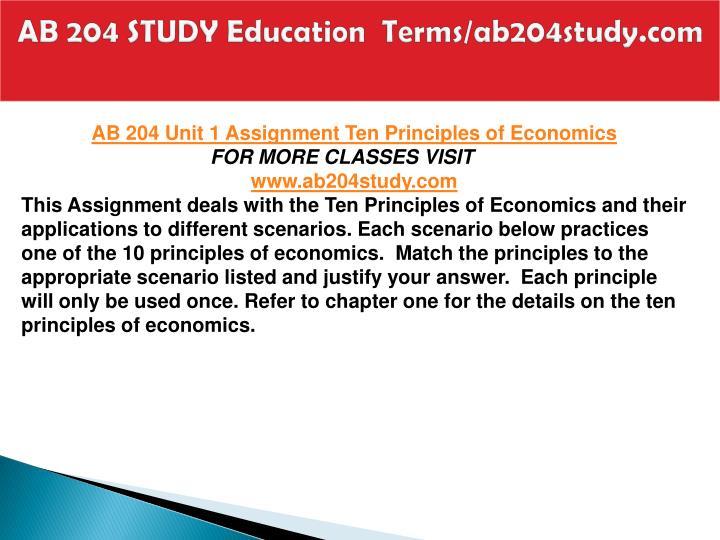 Ab 204 study education terms ab204study com2