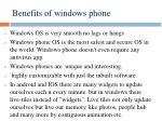 benefits of windows phone