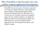 why vertexplus is the best place for your window s phone application development