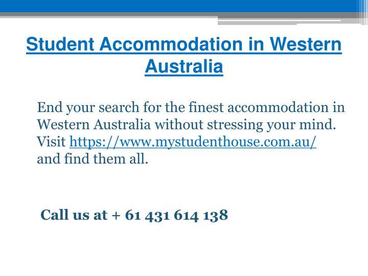 Student Accommodation in Western Australia