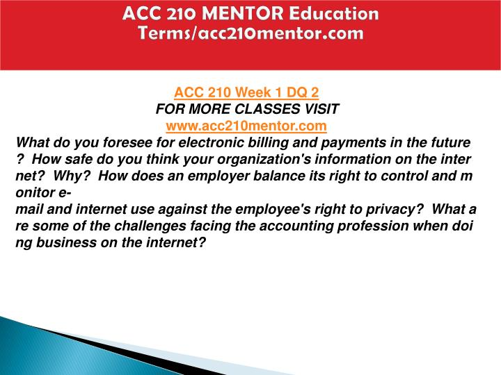 Acc 210 mentor education terms acc210mentor com2