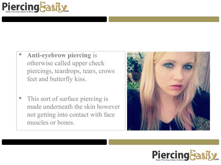 Anti-eyebrow piercing