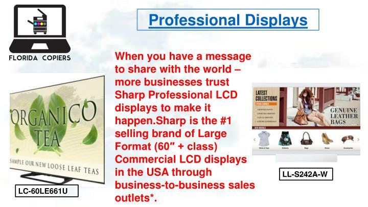 Professional Displays