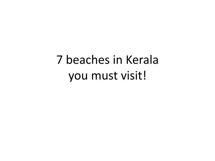 7 beaches in kerala you must visit