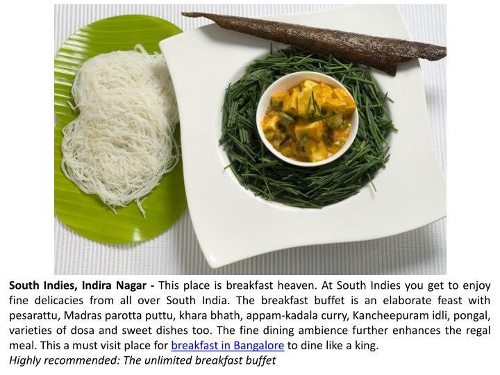 South Indies, Indira Nagar -
