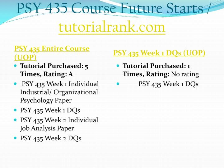 Psy 435 course future starts tutorialrank com1
