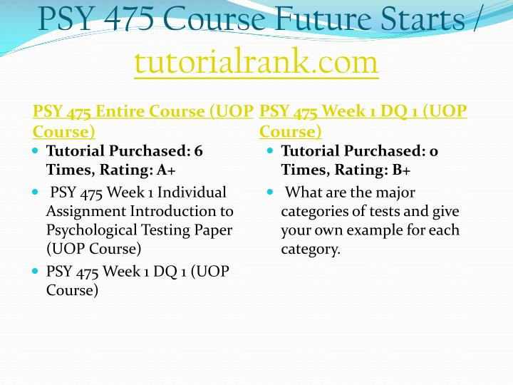 Psy 475 course future starts tutorialrank com1