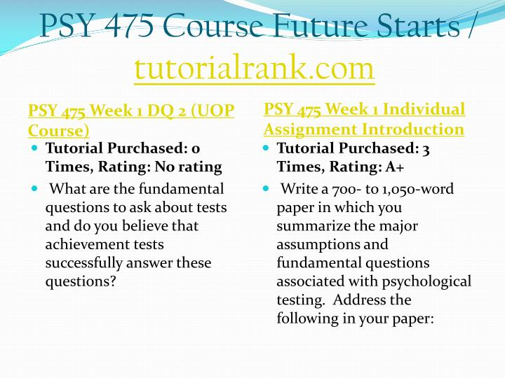 Psy 475 course future starts tutorialrank com2