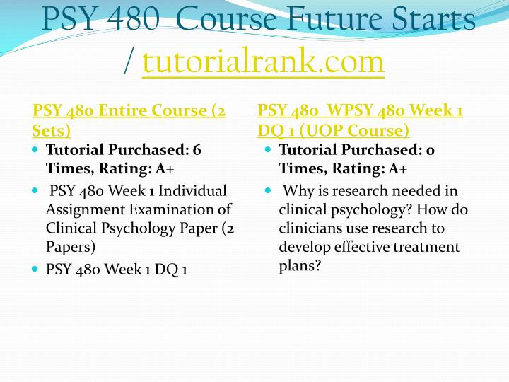 Psy 480 course future starts tutorialrank com1
