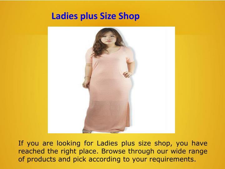 Ladies plus Size Shop