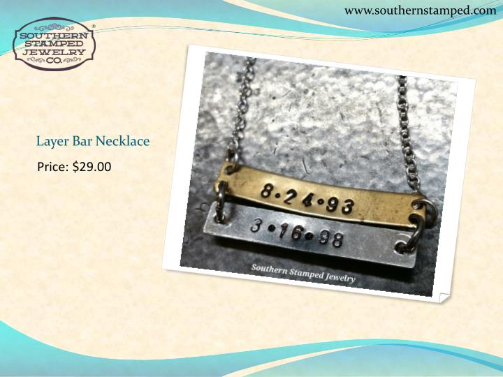 Layer bar necklace