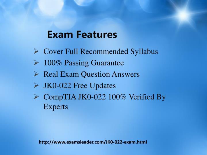 Exam features