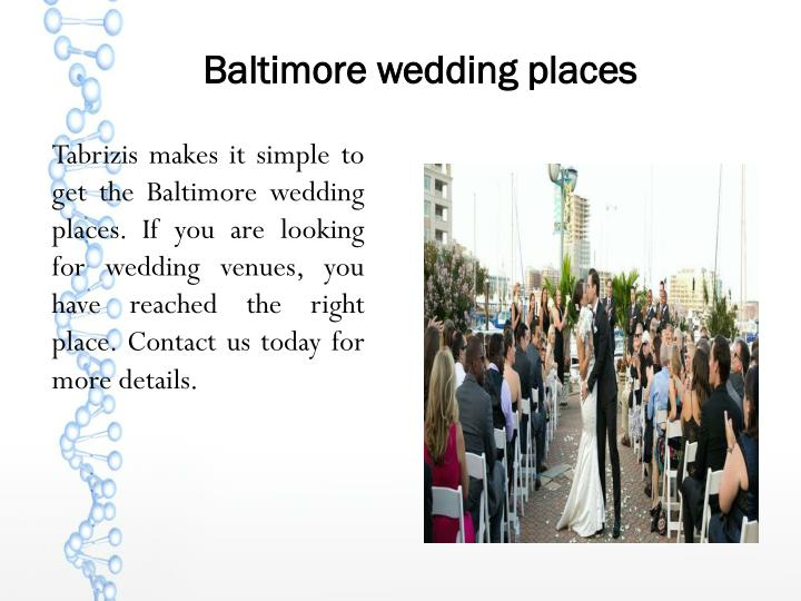 Baltimore wedding places