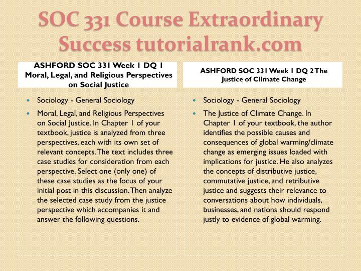 Soc 331 course extraordinary success tutorialrank com1