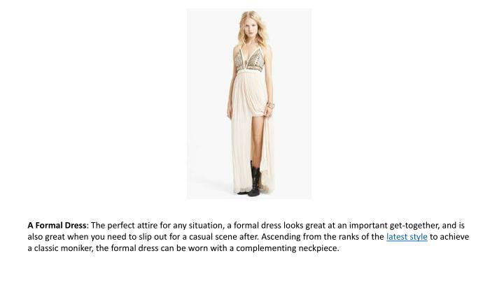 A Formal Dress