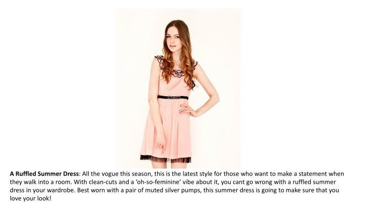 A Ruffled Summer Dress