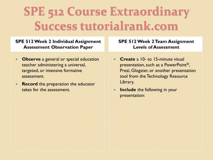 Spe 512 course extraordinary success tutorialrank com2