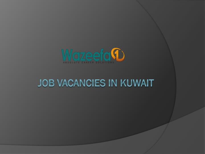 job vacancies in kuwait n.