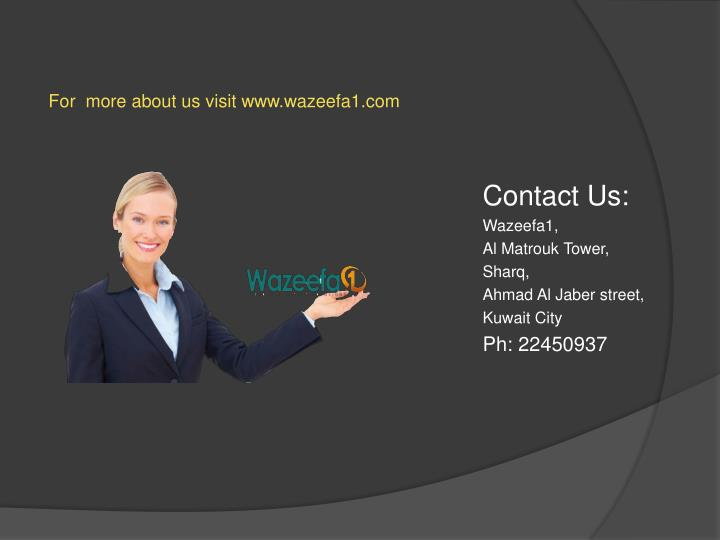 For  more about us visit www.wazeefa1.com