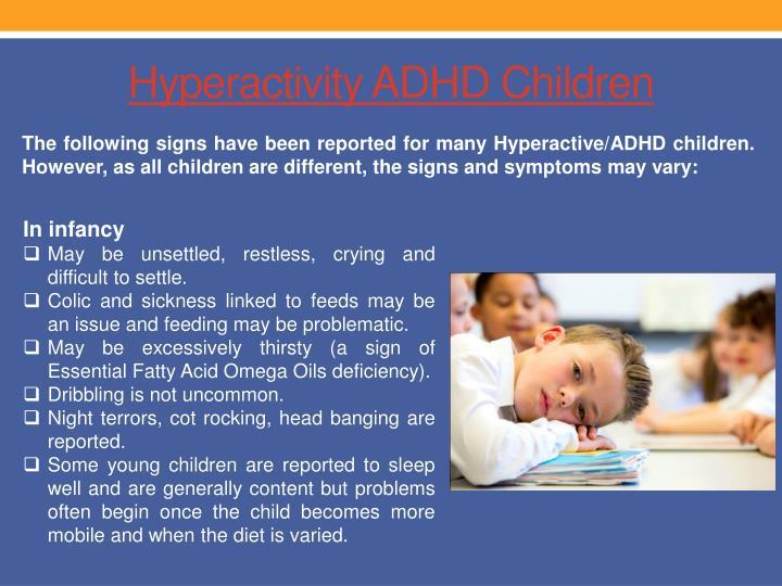 Hyperactivity adhd children
