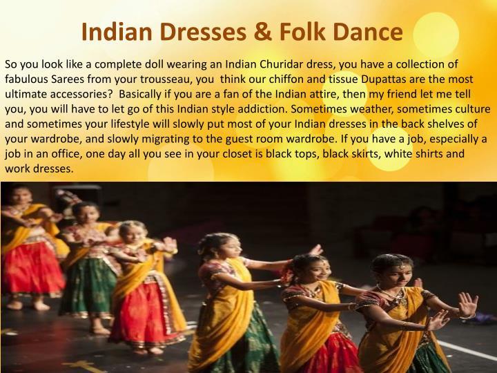 Indian dresses folk dance