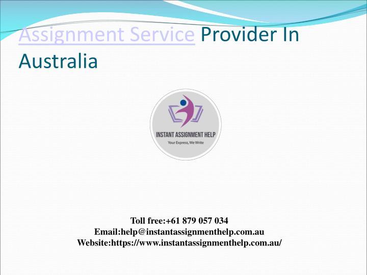 Assignment service provider in australia