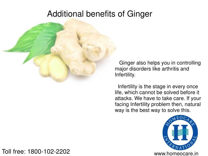 Additional benefits of Ginger
