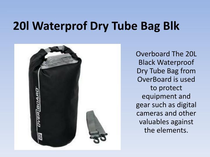 20l waterprof dry tube bag blk
