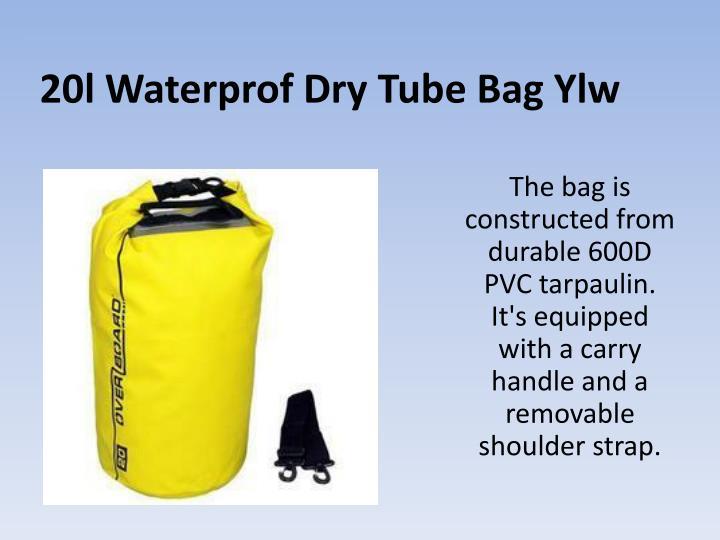 20l waterprof dry tube bag ylw