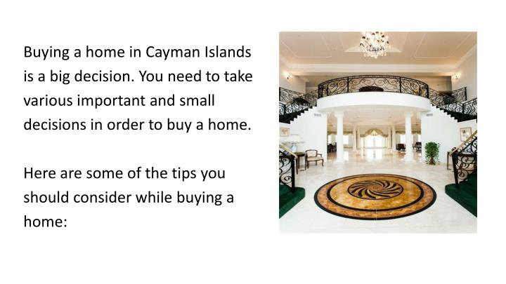 Buying a home in Cayman Islands