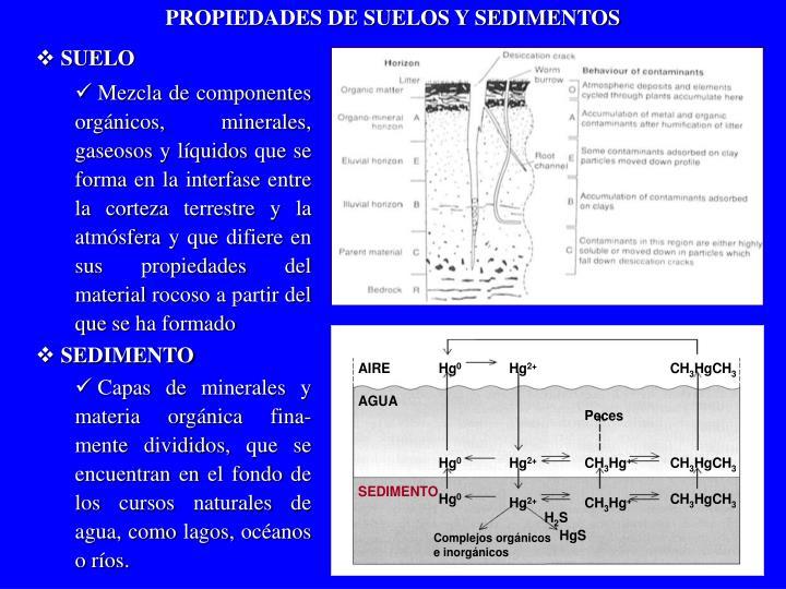 PROPIEDADES DE SUELOS Y SEDIMENTOS