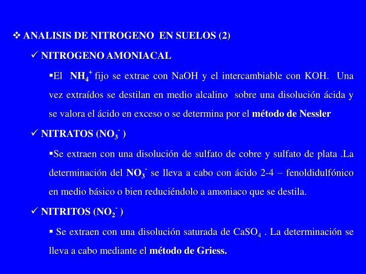 ANALISIS DE NITROGENO  EN SUELOS (2)