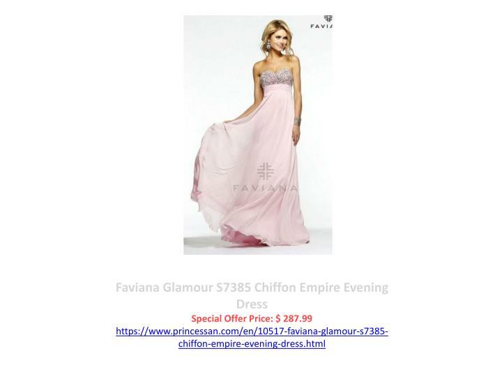 Faviana Glamour S7385 Chiffon Empire Evening Dress