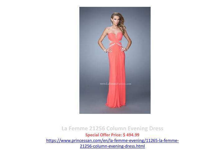 La Femme 21256 Column Evening Dress