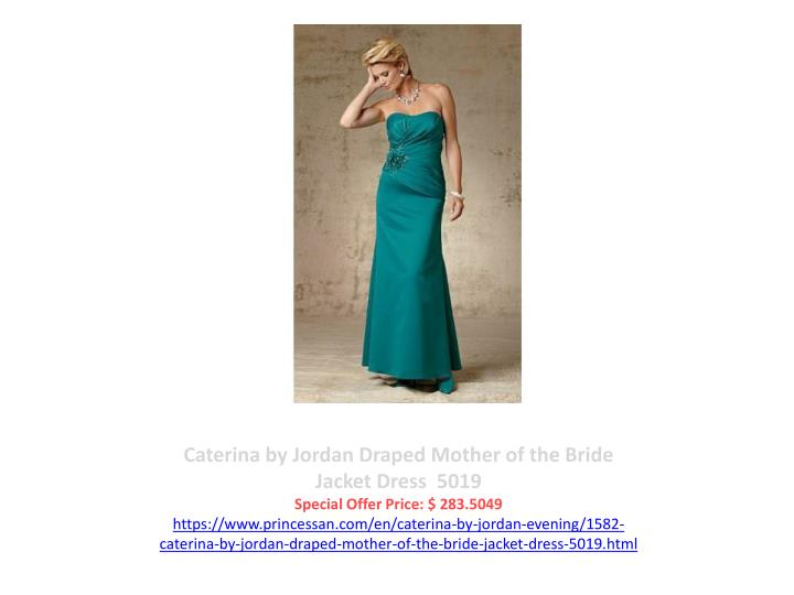 Caterina by Jordan Draped Mother of the Bride Jacket Dress  5019