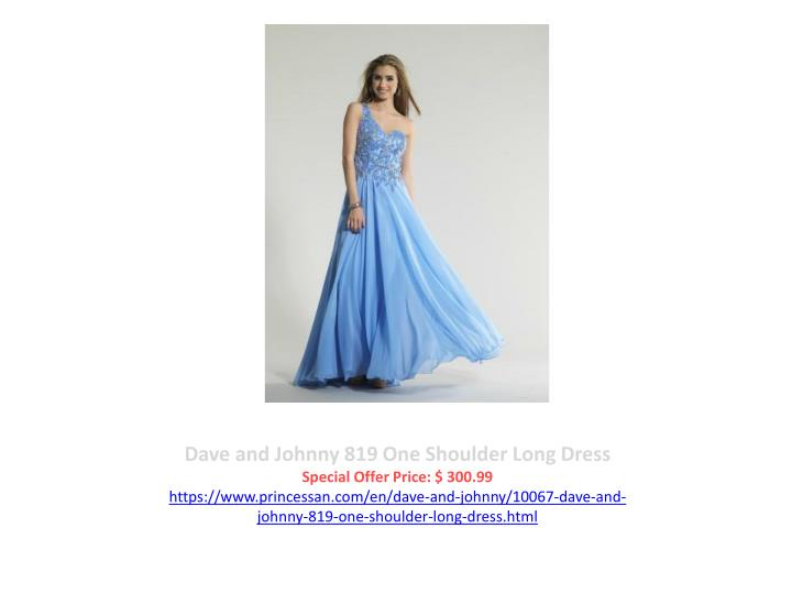 Dave and Johnny 819 One Shoulder Long Dress