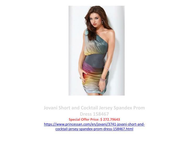 Jovani Short and Cocktail Jersey Spandex Prom Dress 158467