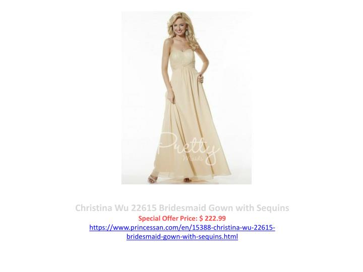 Christina Wu 22615 Bridesmaid Gown with Sequins