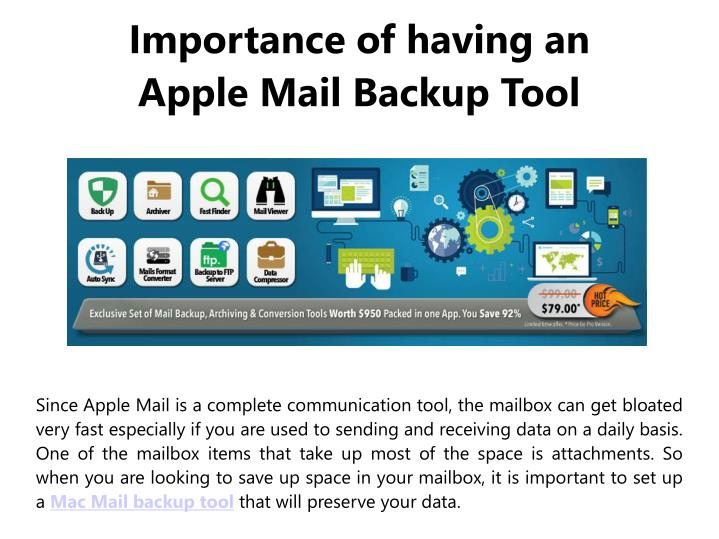 Importance of having an apple mail backup tool