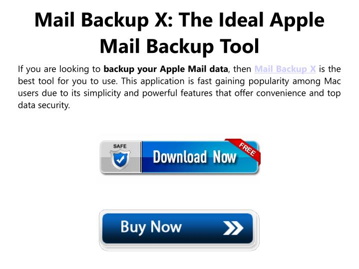 Mail Backup X: The Ideal Apple Mail Backup Tool